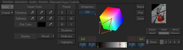[Figure 1] The interface for the Autodesk Diamond Keyer. All screen shots courtesy of Ryan Lesser.