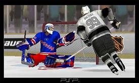 Twenty-four PSP titles were released immediately, including Gretzky NHL. © SCEA.