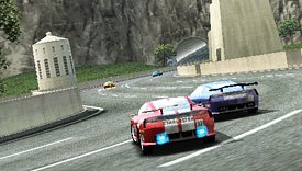 Ridge Racer plays to PSPs strengths with vivid 3D graphics, high-speed action, wireless multiplayer connectivity for up to eight players and a classic collection of tracks and cars. © Namco Hometek Inc.