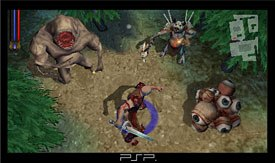Untold Legends: Brotherhood of the Blade was built from the ground up specifically for the PSP, and is currently the only cooperative multiplayer action role-playing game available for the new system © Sony Online Ent.