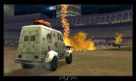 Twisted Metal: Head On is already a popular PSP title. © SCEA.