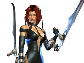 Popular games making the leap to PSP include BloodRayne, which will feature a two-player, co-op wireless multiplayer with a playable second character. Courtesy of Majesco Ent.