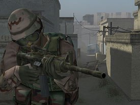 The military is a major fan of videogame-style, story-driven games, and is developing Americas Army, which shows users which people not to shoot. © U.S. Army.