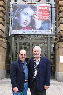 Erich Roth (left), exec director of VES, and Digital Eye Peter Plantec stand in front of the Kings Hall in Stuttgart during fmx/05. All photos courtesy of Peter Plantec. Photo credit: Kevin Geiger; all other photos: Peter Plantec.