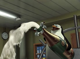 Some voices came from the production team itself. For example, Tom McGrath voiced Skipper, the lead penguin.