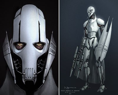 In early artwork, Grievous looks a lot more droid-like. Fagin as well as Nosferatu were early influences. In the end, sequence supervisor Glenn McIntosh kept referring to the six-armed Kali in The Golden Voyage of Sinbad.
