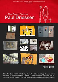 All of Paul Driessens Dutch work has been gathered onto this indispensable DVD, which includes pristine transfers of some of his best known festival shorts. Unless otherwise indicated, all images © Il Luster Productions.