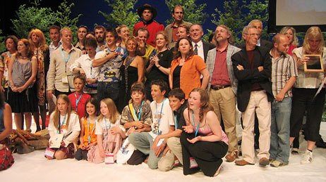 All together now: The winners of Annecy 2005. Photo credit: Sarah Baisley.