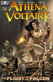Athena Voltaire is headed from digital format to print. A b&w online preview of The Flight of the Falcon appears July 18 before it's offered in full-color from Speakeasy Comics at the end of the year.