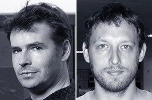 These two men were part of the vfx braintrust for Charlie: overall vfx supervisor Nick Davis (left) and MPCs vfx supervisor Chas Jarrett.