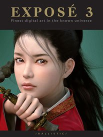 Exposé 3 presents the advances of digital art in the year since the previous publication. Oriental Heroine is the hyper-real cover piece by Korean artist Eun-Hee Choi.