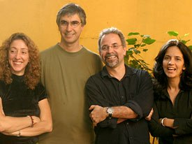 From left to right: Festival directors Léa Zagury, Marcos Magalhães, Cesar Coelho and Aida Queiroz. Photo courtesy of Anima Mundi.
