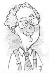 Sketch of Lou Hertz. Courtesy of David M. Strandquest.