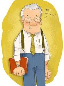 Caricature of Lou by Ward Jenkins. Courtesy of Ward Jenkins.