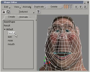 The shape manager provides you with an environment for creating, editing and animating shapes.