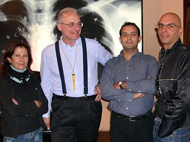 From left to right: festival academic director Carmen Garzón, animation historian Giannalberto Bendazzi, festival artistic director Alejandro González and University of Córdoba professor Gustavo Blázquez.