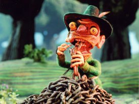 Screening in competition was Jan Werichas Fimfarum. The film is puppet-animated; the scenery is very detailed and the paper characters seem related to the film work of cartoonist Peter Pos. © Krátky Film Praha.