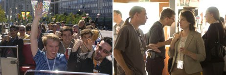 Amidst the panels, workshops and screenings, attendees found time to board a bus for a group picnic and take a boat cruise (right).