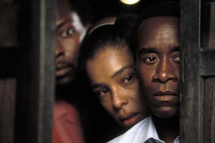 Post Logic Studios work on Hotel Rwanda is a perfect example of how color correction, Power Windows and frame re-composition enhances image quality and emotional nuance. Courtesy of MGM/UA.