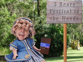 Golditoons enters the Three Bears in the Woods Festival with her short film. Courtesy of Mark Simon.