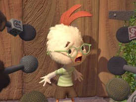 The sky was falling on Chicken Little and on Disneys animation heritage. With this film, the company is trying to rediscover its legacy while playing catchup in the competitive CG marketplace. All images © Disney Enterprises, Inc. All righ