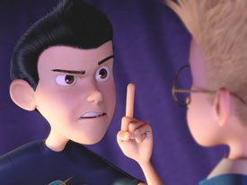 In terms of character design, Meet the Robinsons borrows from 50s Disney classics, Warner Bros. cartoons and The Incredibles.
