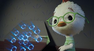 Because of all the 3D patents, Disney worked on the left eye view and ILM worked on the right eye view. All Chicken Little images © Disney Enterprises, Inc.