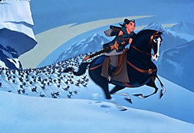 A research trip to China for the animation team of Mulan was extremely worthwhile and contributed greatly to the films fantastic overall look and stylistic integrity. © Disney Enterprises, Inc. All rights reserved.