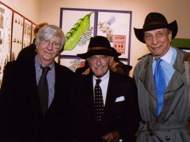 (Left to right:) School of Visual Arts chairman Silas H. Rhodes, Heinz Edelmann and Milton Glaser.