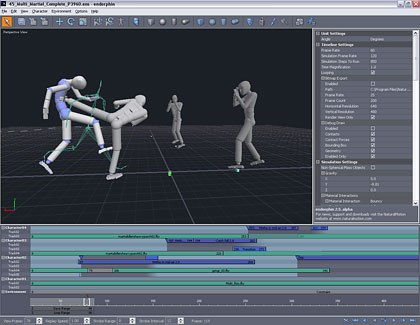 Another exciting trend in game animation are tools that blend procedural and keyframed/MoCap data. The best example is probably NaturalMotions endorphin. © NaturalMotion Ltd. 2005.