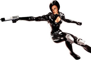 Voice-over recordings, music, original set designs, environments and structures featured in the movie were incorporated into the game for Aeon Flux. All Aeon Flux game images courtesy of Majesco Ent.