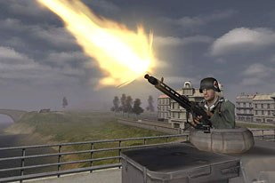 Stefan Van Niekerk of Electronic Arts, Canada, guesses that after game consoles have reached a certain level of visual perfection, online games like Battlefield could be the next frontier. Battlefield 1942 © Electronic Arts.