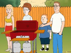FOXs two animated hit series, The Simpsons and King of the Hill (above), nudged the major networks to take a chance on pushing animated shows to the forefront of their primetime lineups.  © 2001 FOX Broadcasting.