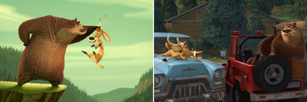 James Williams of Sony Pictures Animation, who recently worked on Open Season, emphasizes that the main difference between previs in live action and animation is that animation actually requires the layout process. © Sony Pictures Animati