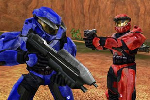 Red vs. Blue is one of the most popular series of machinima shows. © Rooster Teeth.