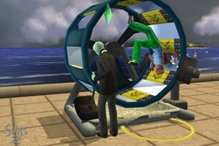The Sims 2 has a simple interface to capture video footage from game sequences. © 2005 Electronic Arts Inc. All rights reserved.