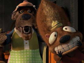 Twitchy (above) and The Wolf were among the first characters the Edwards created.