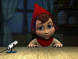 The filmmakers gave Red four fingers to make her look more like a doll. Hoodwinked resisted using CG for a realistic look. Instead, it takes things back to where CG looks a lot more like a cartoon.