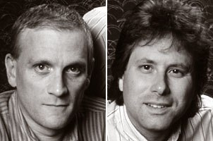 Katzenberg went against the legend and chose The Little Mermaid as the next big feature release. He forged an alliance with the Broadway musical team of Howard Ashman (left) and Alan Menken.