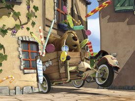 Doogal started as a French TV animated show, became U.K. cult hit, The Magic Roundabout, and now, four decades later, a CGI feature premiering in U.S. theaters. All Doogal images © 2006 Weinstein Co.