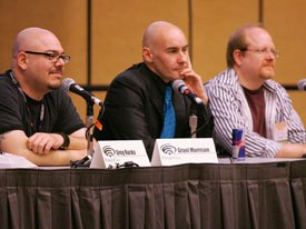 DC Comics made a strong showing at WonderCon. Writers Greg Rucka, Grant Morrison and Mark Wald (left to right) discussed upcoming plotlines, answered questions from readers and confirmed rumors.