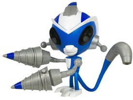 Hasbros new action figure line based on the Toon Disney anime series, Super Robot Monkey Team Hyper Force Go!, includes a DVD, a trend that has become popular the last few years. Courtesy of Hasbro.