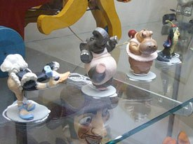 Disney maquettes are only one of the higher end products that were on display at the event.