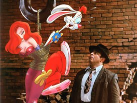 """The Roger Rabbit """"look"""" required that scenes be lavishly lit. This dull task fell on effects animators, who were trained to do more. Courtesy of Disney. © Touchstone Pictures and Amblin Ent. Inc."""