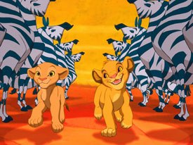 The effects department dubbed The Lion King the Tone King as every single character in every single scene had tonal sculpting added via painstakingly hand-drawn mattes, whether necessary or not. © The Walt Disney Co.