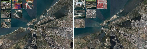 John Graham of SDSU created this visualization showing the before and after of the Tsunami.