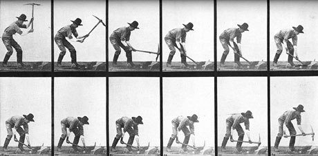 Blackton consulted with sequential photography pioneer Edweard Muybridge as he studied how to make a movie. Muybridges work is seen above.