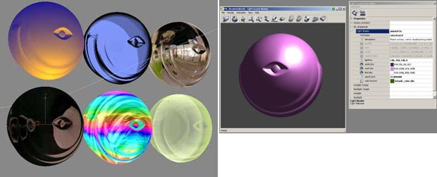 The new new CgFX 1.4 realtime shader provides support for many realtime shader formats.