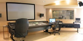 Studios like Keith Arems PCB Productions oversees voice casting, recording and sound design for games. Above is its mix stage.