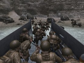 While casting Call of Duty 2, PCBs Arem sought out voices similar to the actors in HBOs Band of Brothers. To his surprise, he wound casting the Brothers actors for the game. © Activision.
